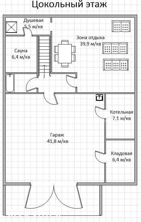 План цоколя в доме, Симферополь. Продам