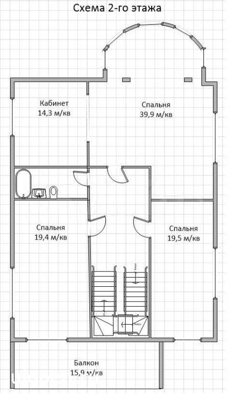 Планировка 2 этажа, Симферополь. Продам дом