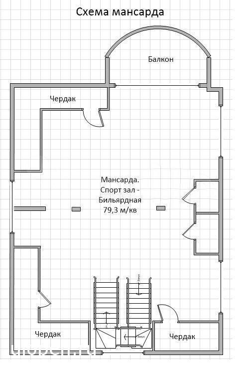Планировка мансарды. Купить этот дом, Симферополь